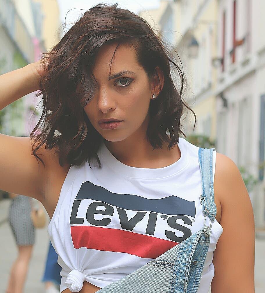 crop top grey girls levis de Les Bourgeoises sur thitia_marquez
