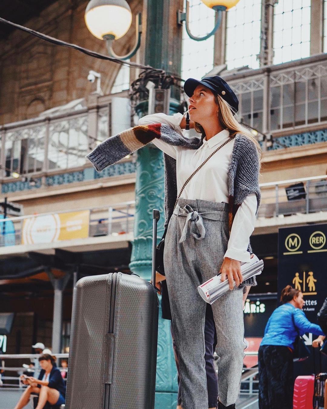 pantalon gris foncé chiné de Les Bourgeoises sur lesbourgeoisesofficiel