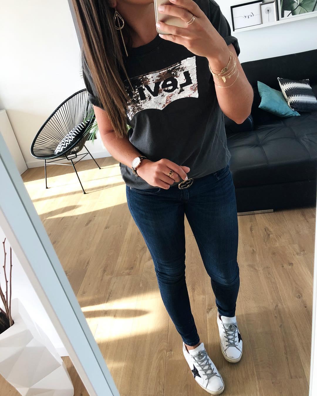 t-shirt levis noir et argent de Les Bourgeoises sur flo__ll