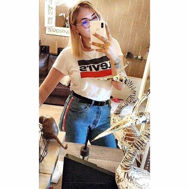 white girls levis t-shirt de Les Bourgeoises sur vanillacupcaake