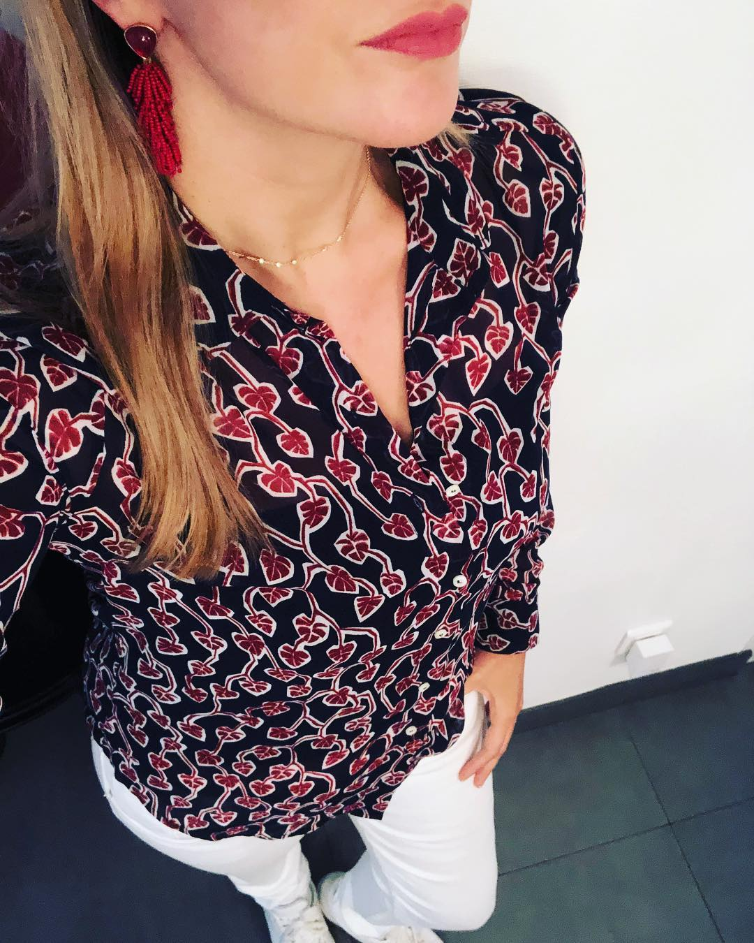 women's printed voile shirt de IKKS sur elodiiiee68