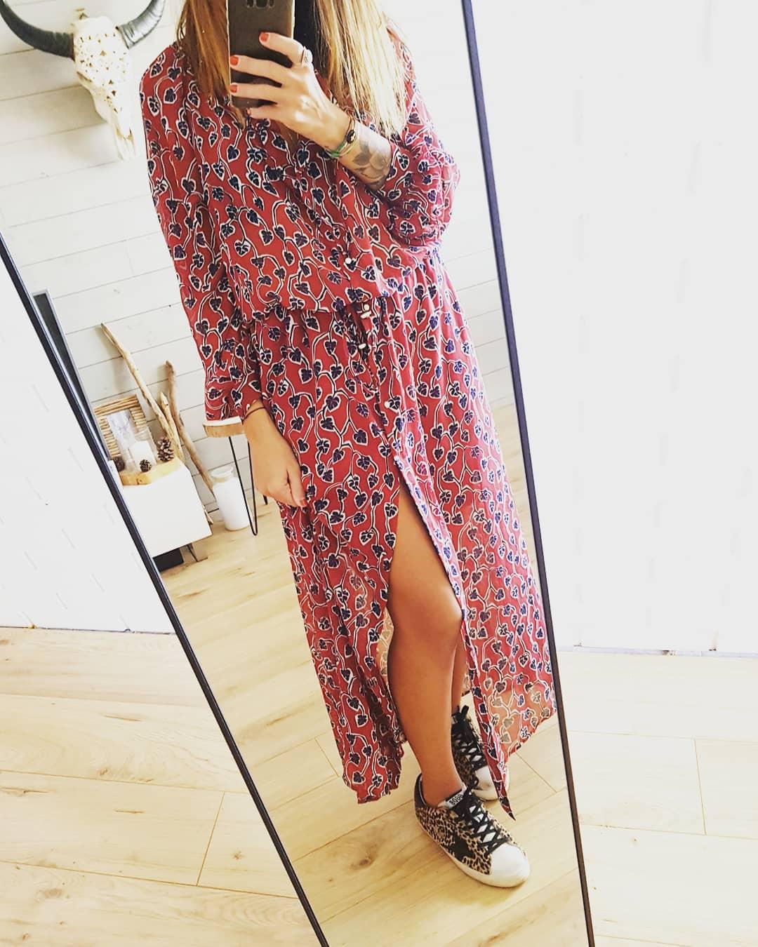 long, leaf-print dress de IKKS sur just_julie13