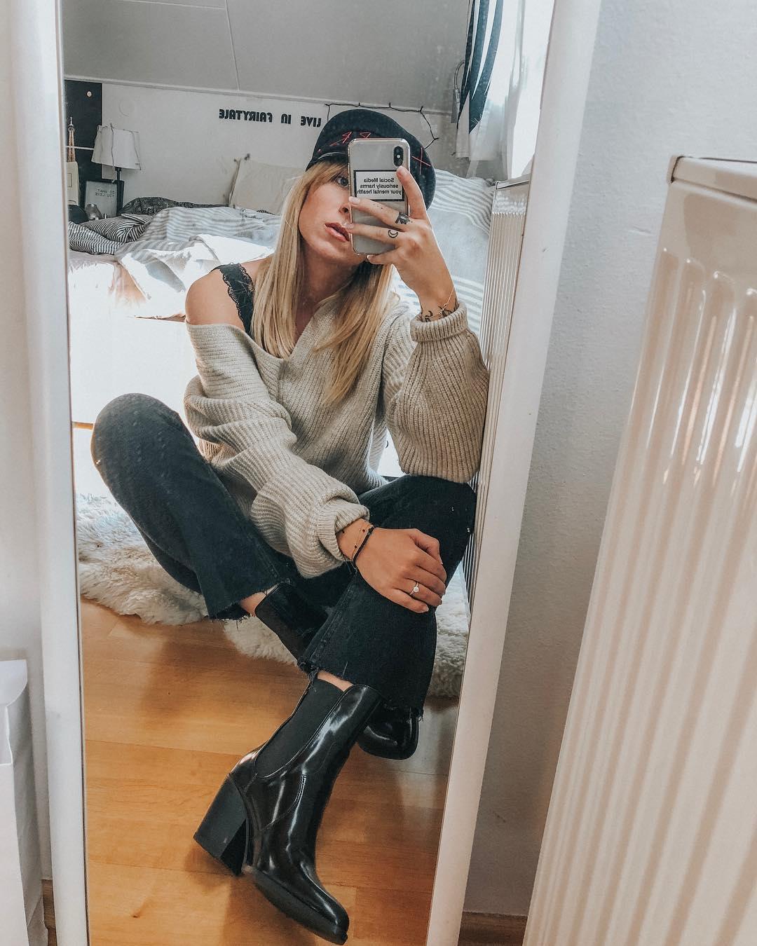 cowboy heel ankle boots de Zara sur veshion