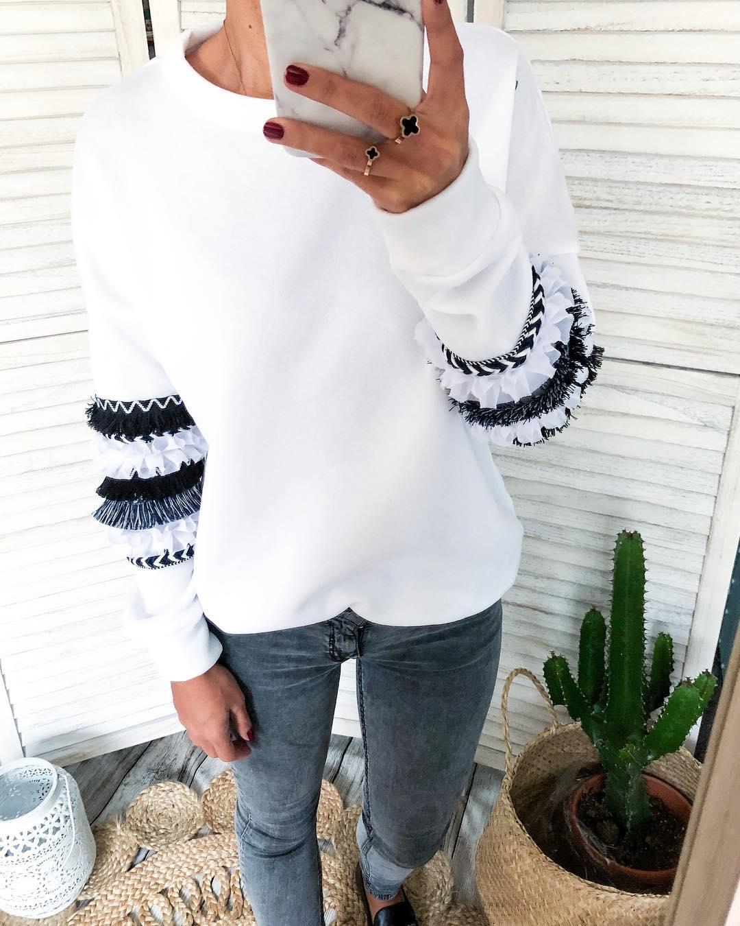 grey frou pullover de Les Bourgeoises sur boutique.lucilla