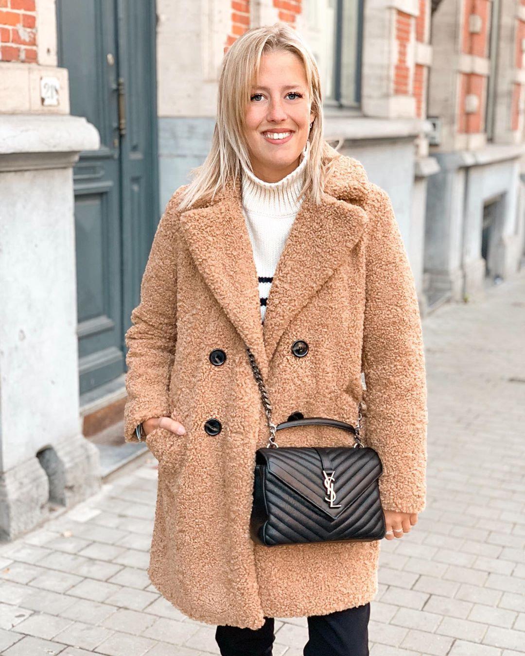 manteau à texture effet mouton de Zara sur britishstylishblog