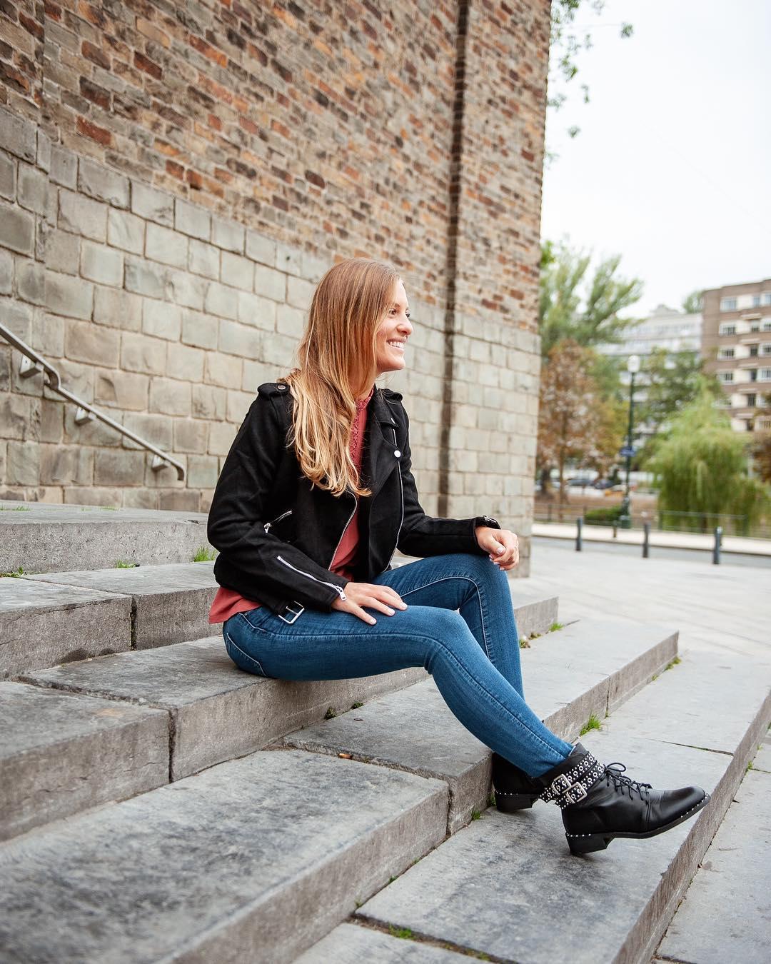 jeans slim de Les Bourgeoises sur lesbourgeoisesofficiel
