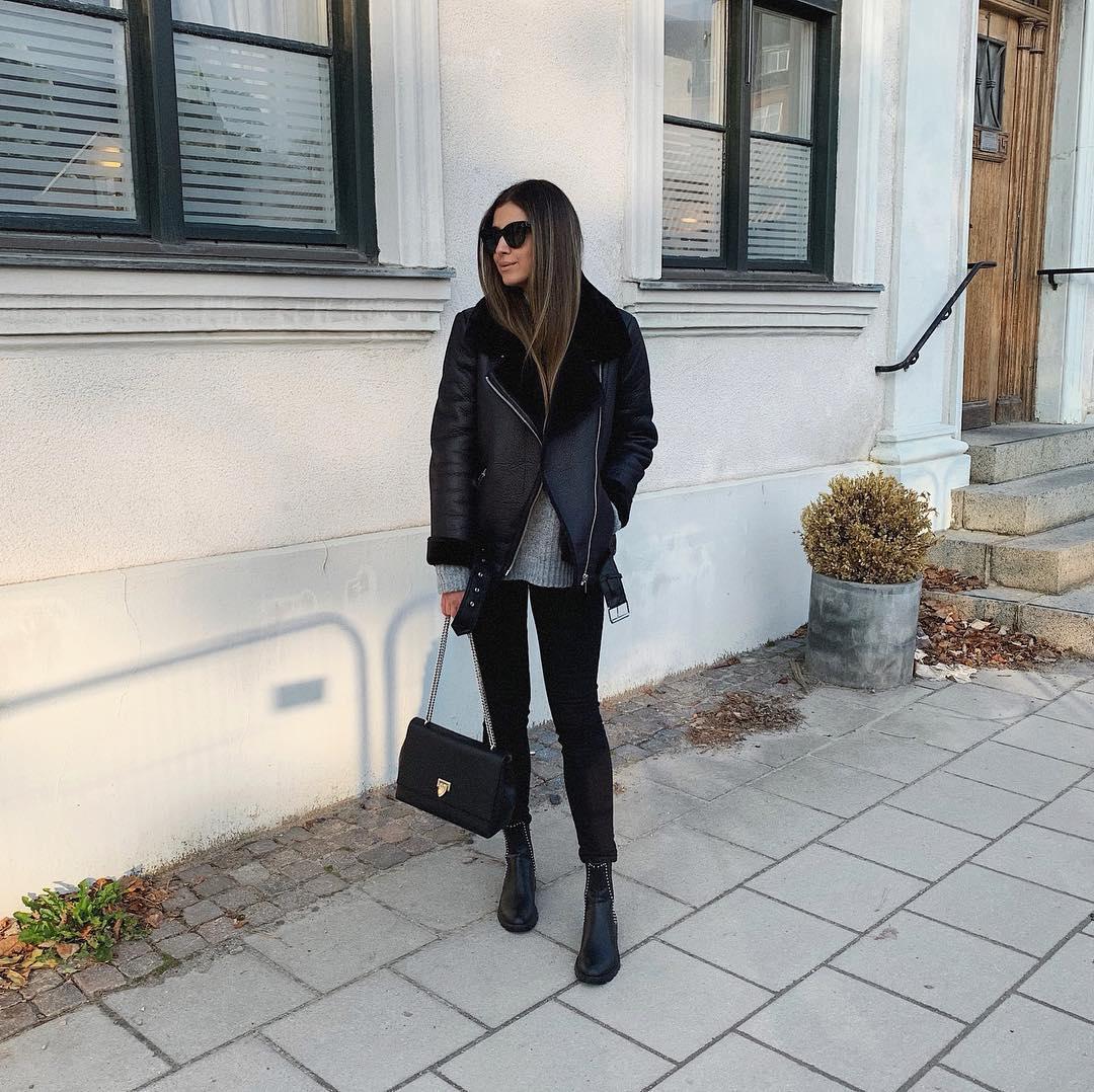 studded flat ankle boots de Zara sur mystylebook