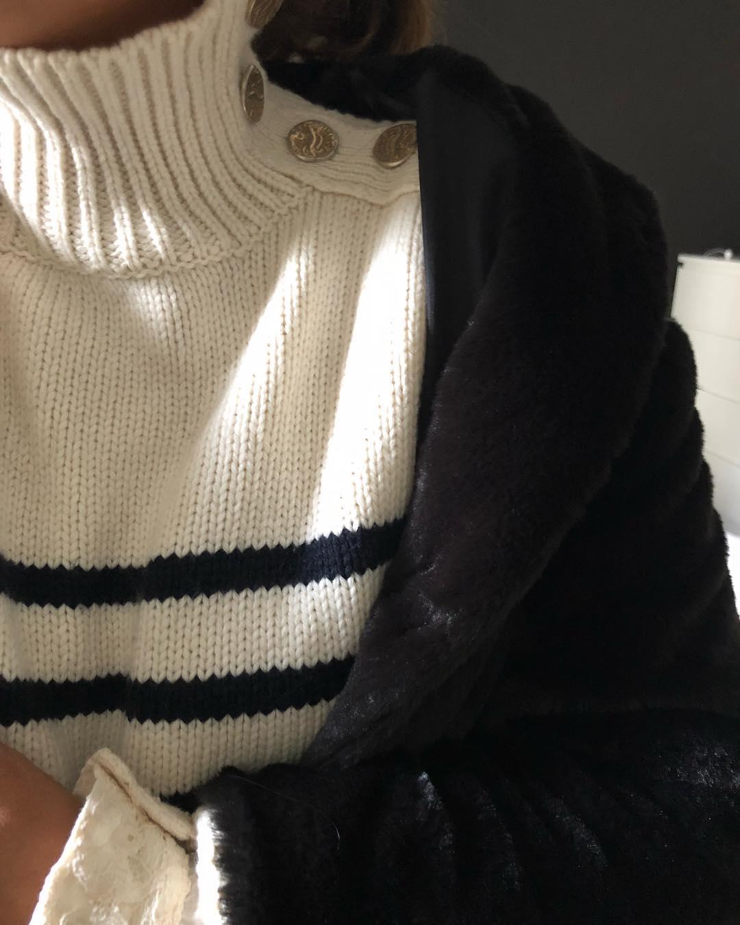 pull marinière écru de Les Bourgeoises sur feelingfrench