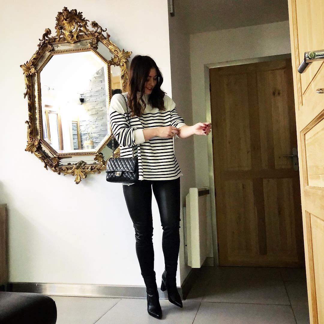 pantalon noir enduit de Les Bourgeoises sur businesswomandiary
