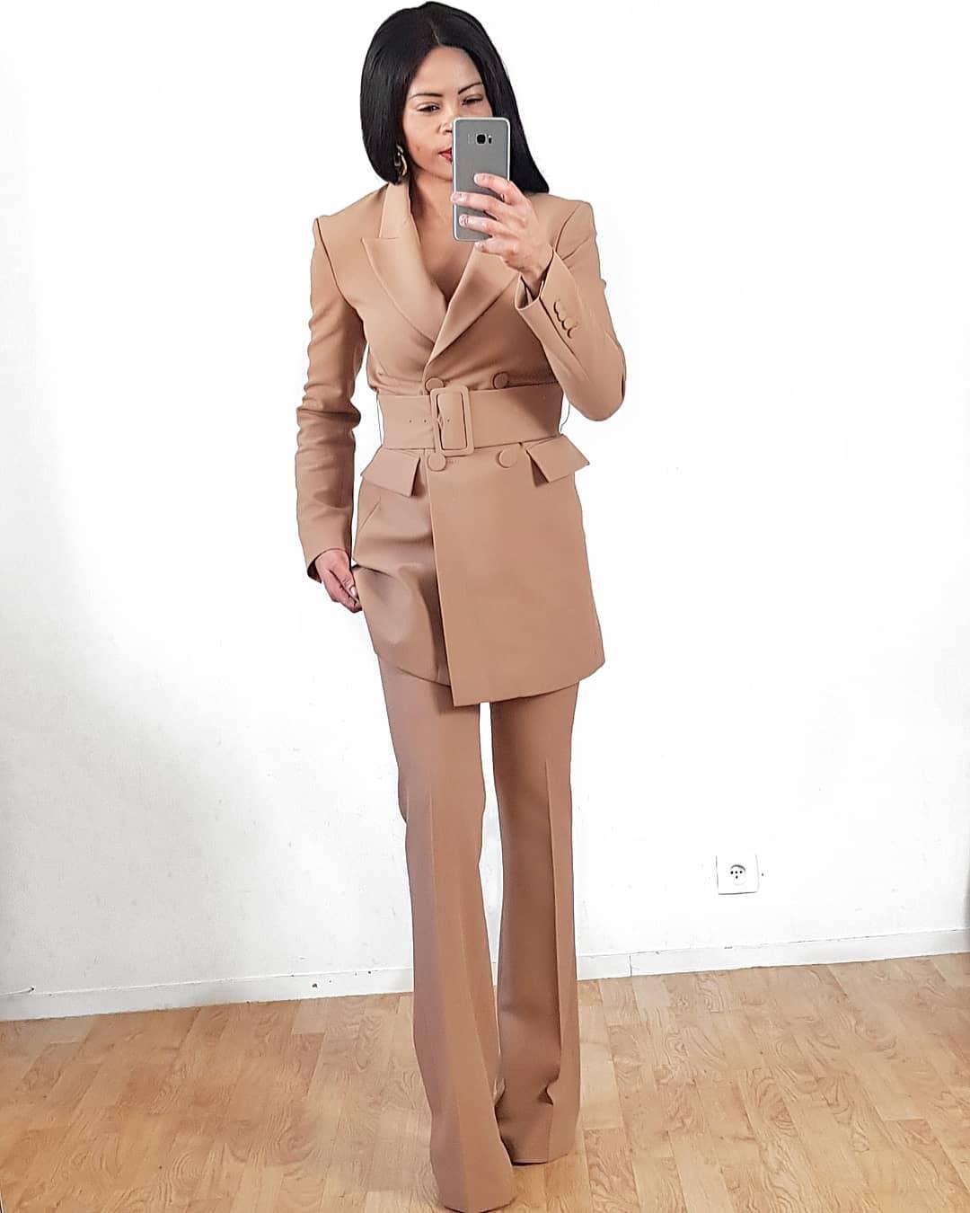 veste à ceinture de Zara sur virginie._g