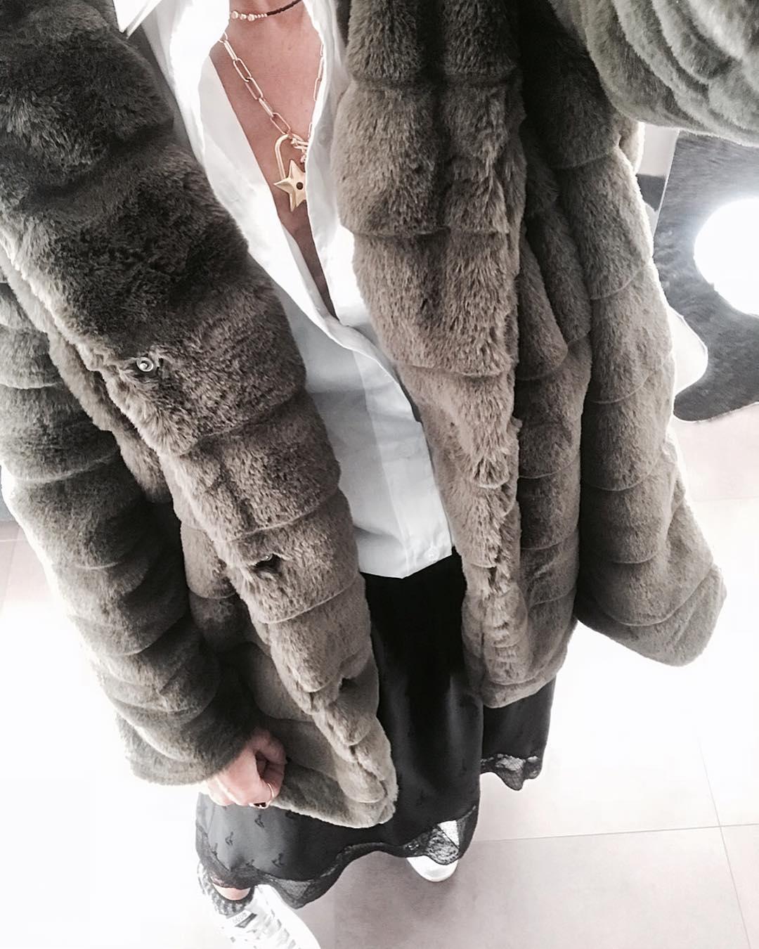 khaki doudou coat de Les Bourgeoises sur patpau57