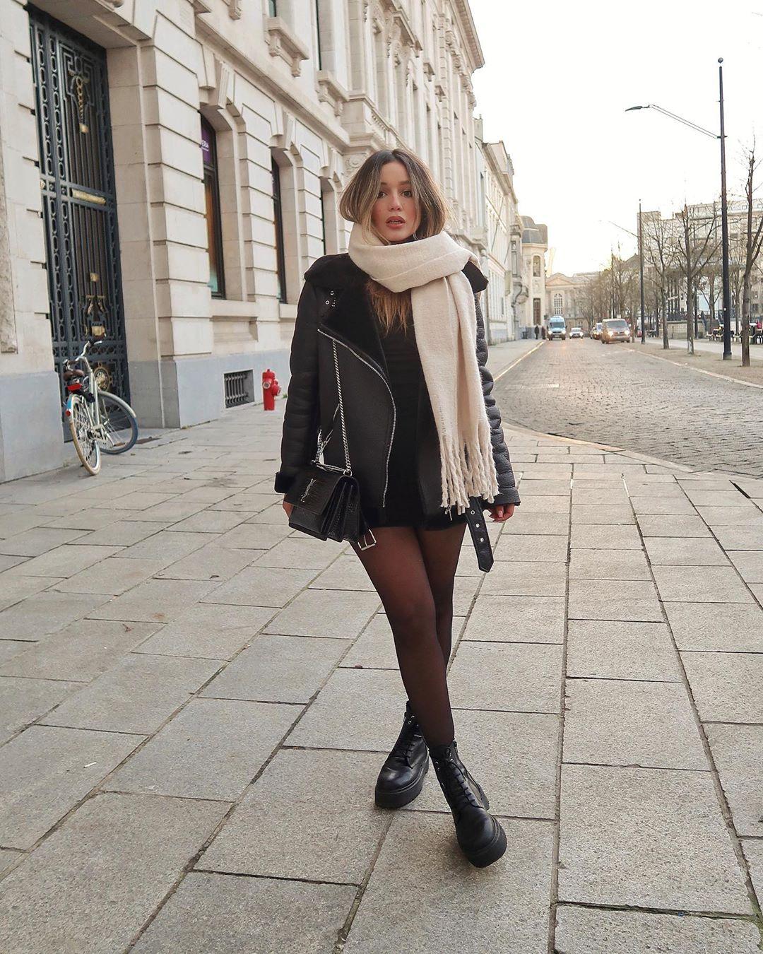 veste de motard bimatière de Zara sur mimiarr