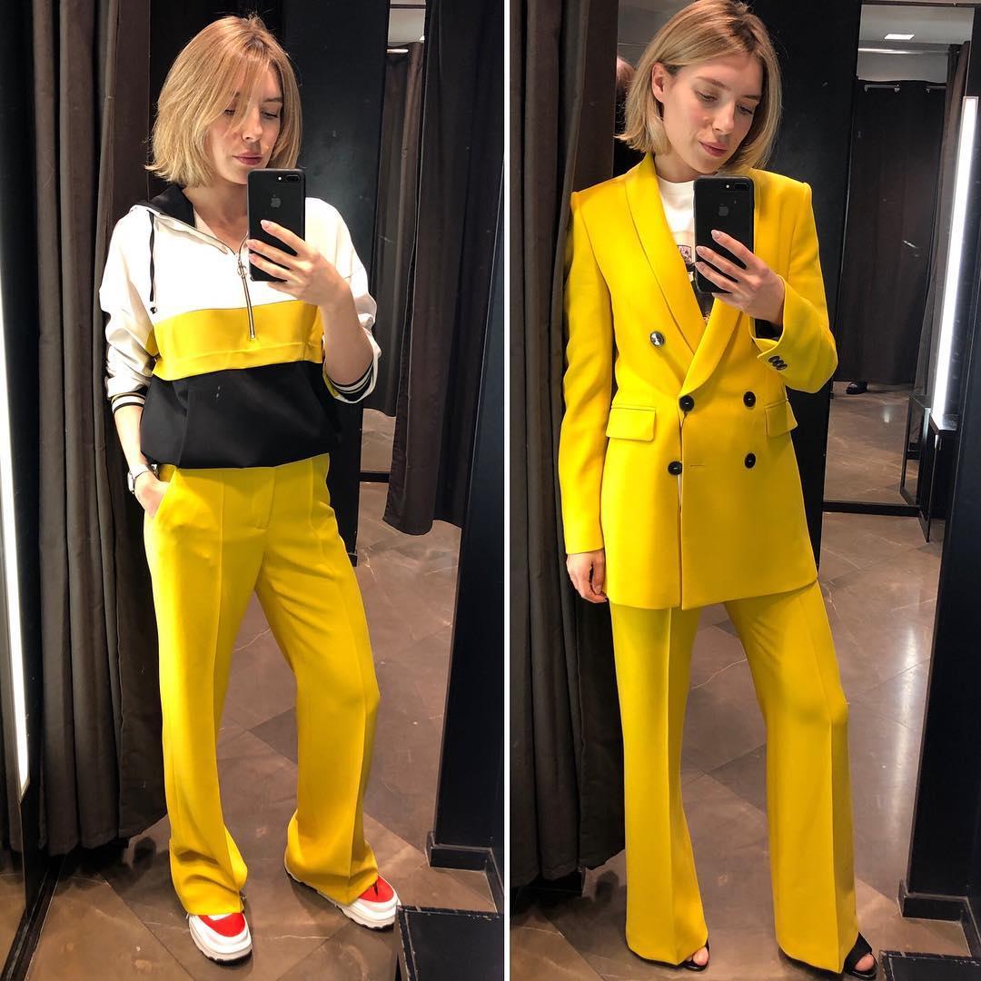 pantalon flare de Zara sur citystylefox