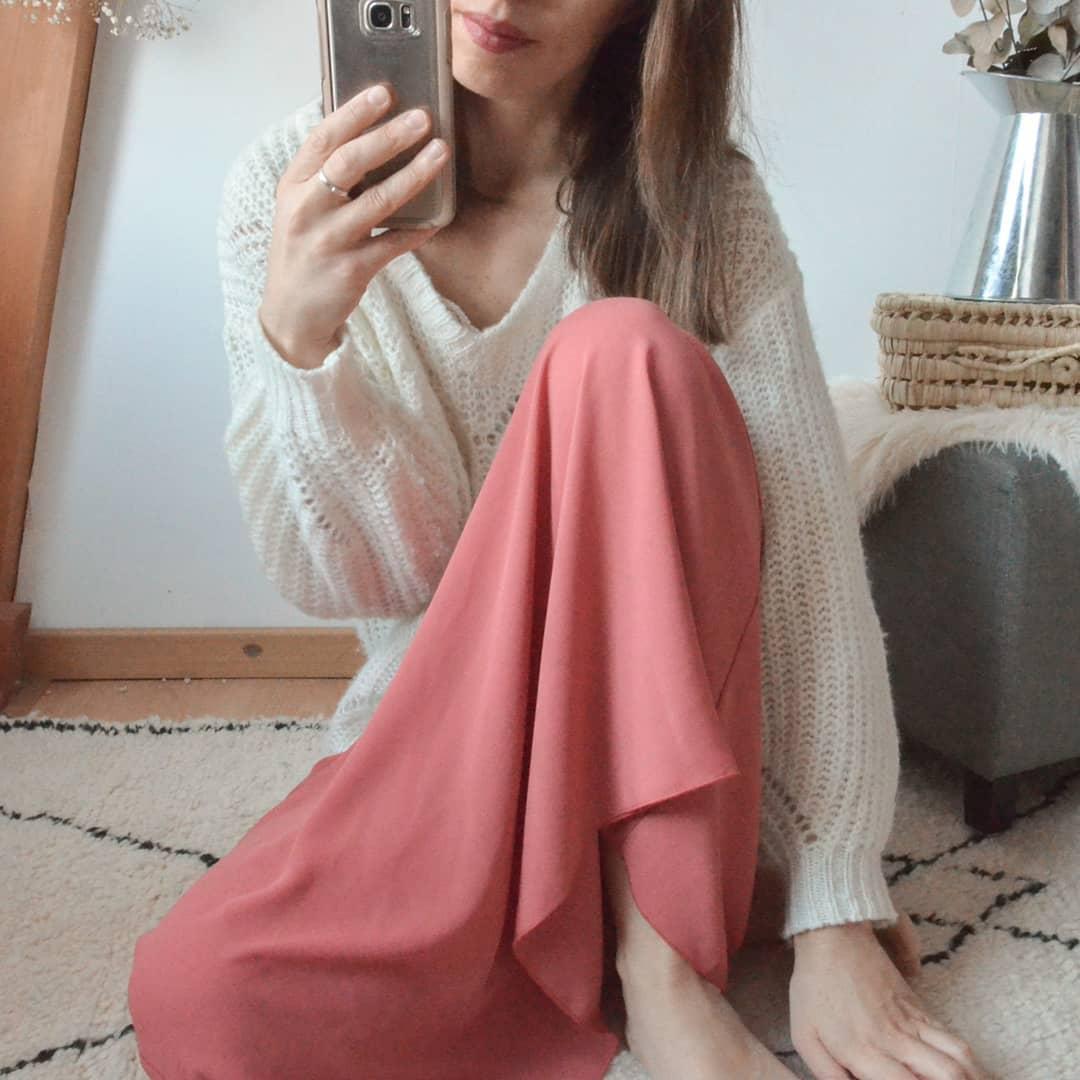 pull beige court de Les Bourgeoises sur amelie_lbrg