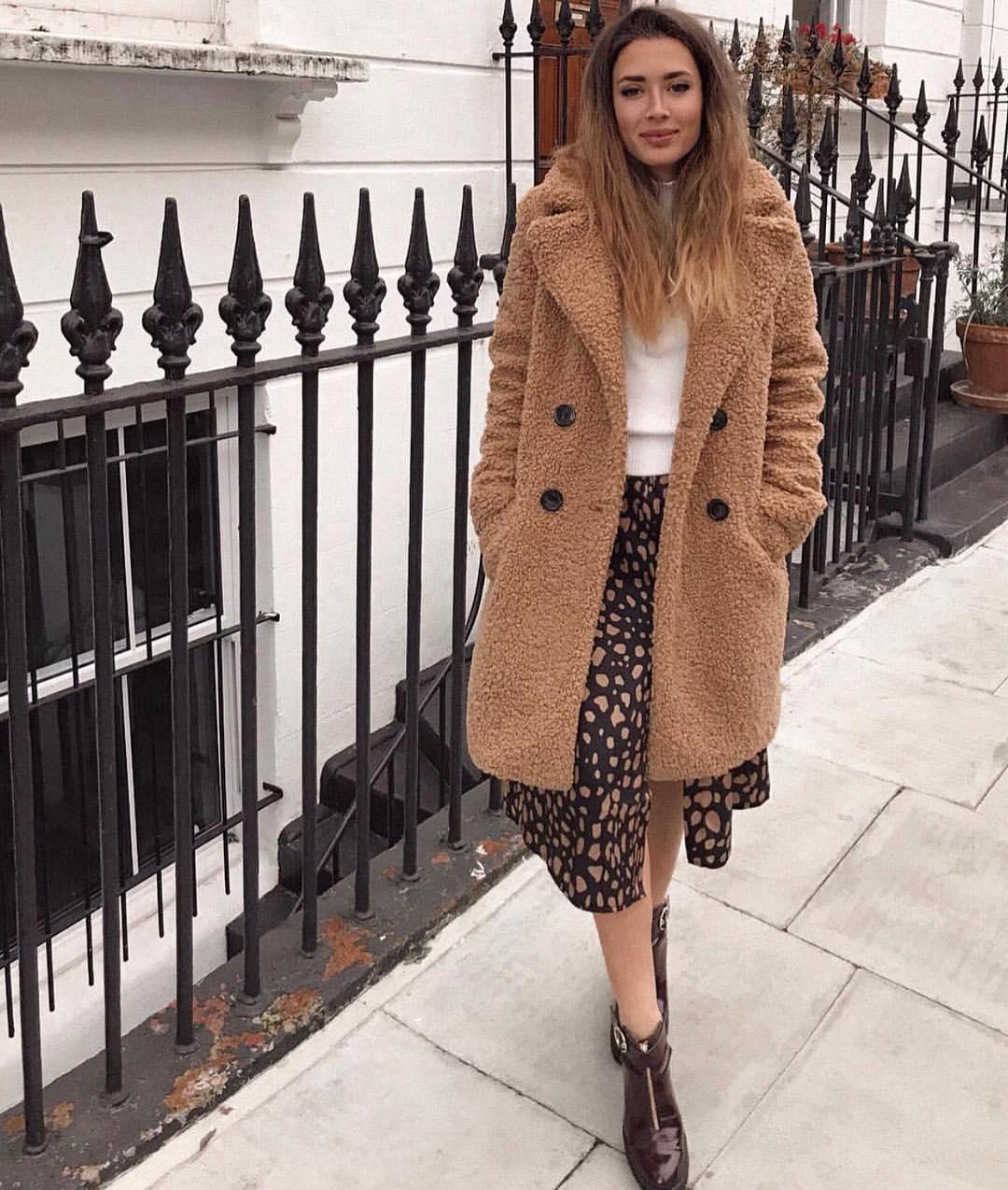 sheep-effect coat de Zara sur zaraaddiction