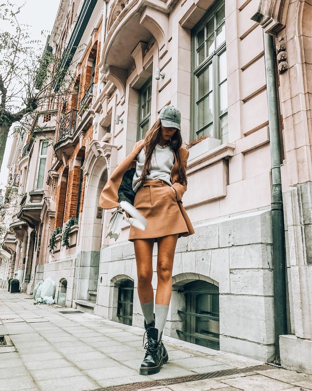 mini jupe de Zara sur sachabaleriaux