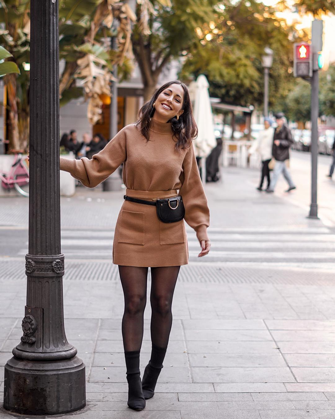 mini skirt with pockets de Zara sur criscalatrava