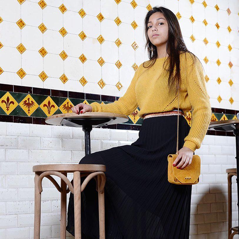 jupe plissée noire de Les Bourgeoises sur store.neema