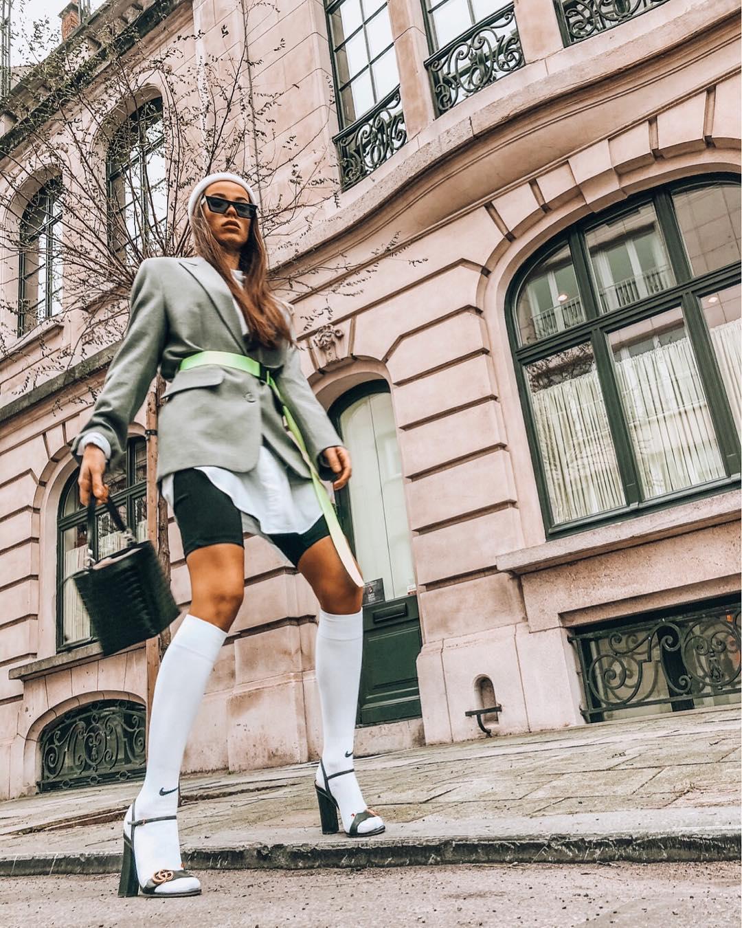 veste oversize avec ceinture de Zara sur sachabaleriaux