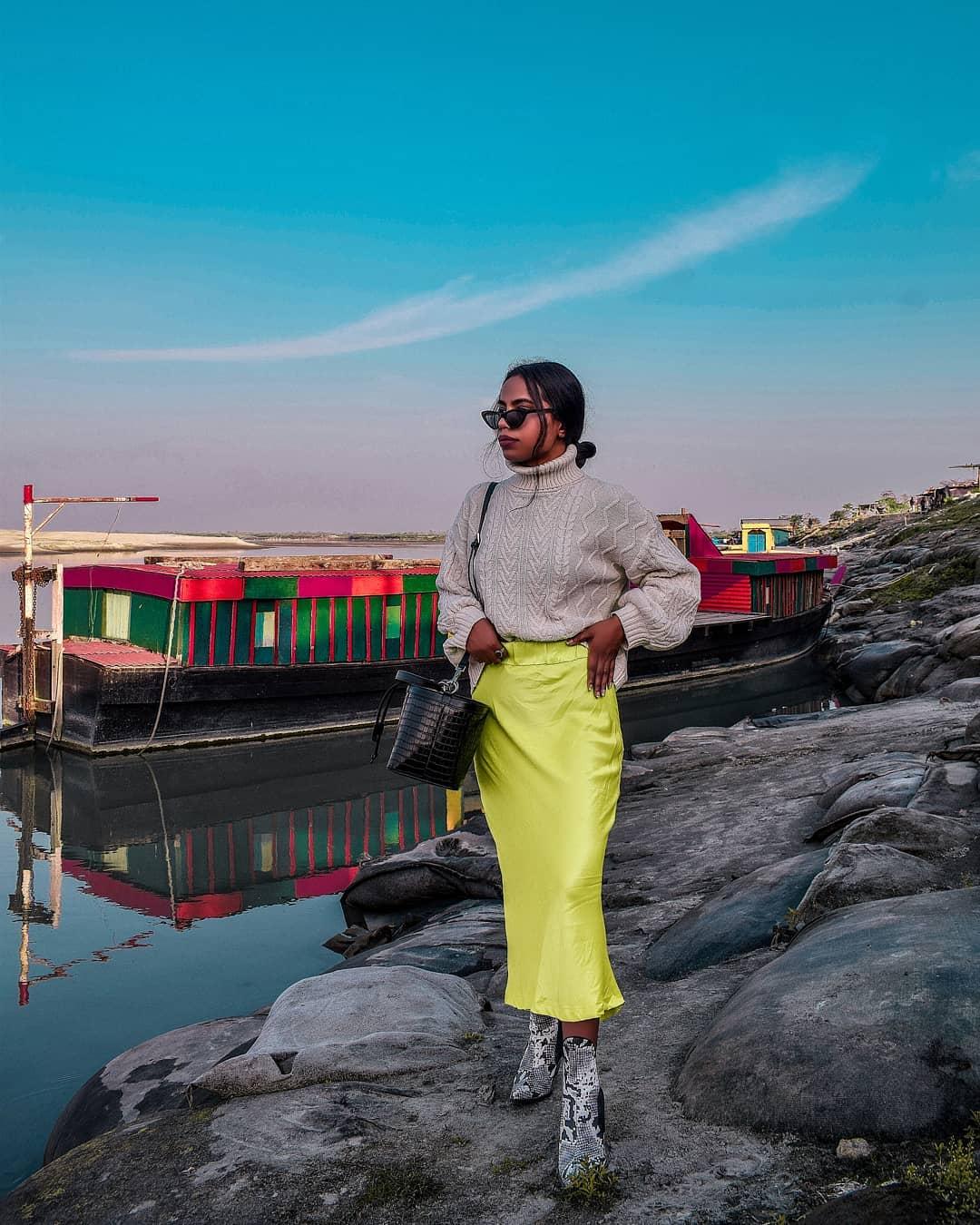 satin skirt de Zara sur fashion_peopleandplaces