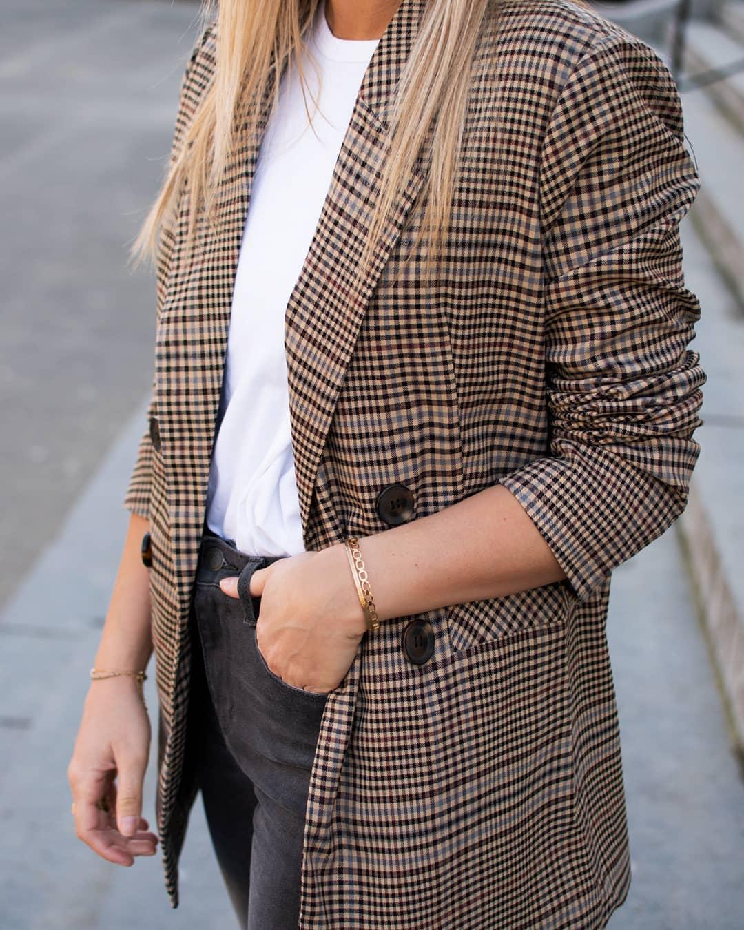 blazer écossais de Les Bourgeoises sur gwnio_shop