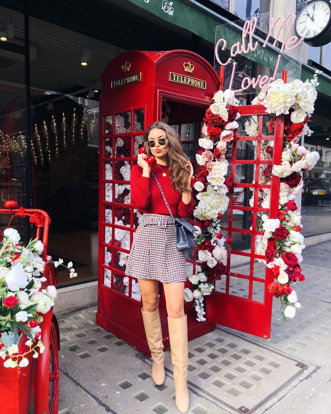 mini jupe en tweed à ceinture de Zara sur sophielouisesdiary
