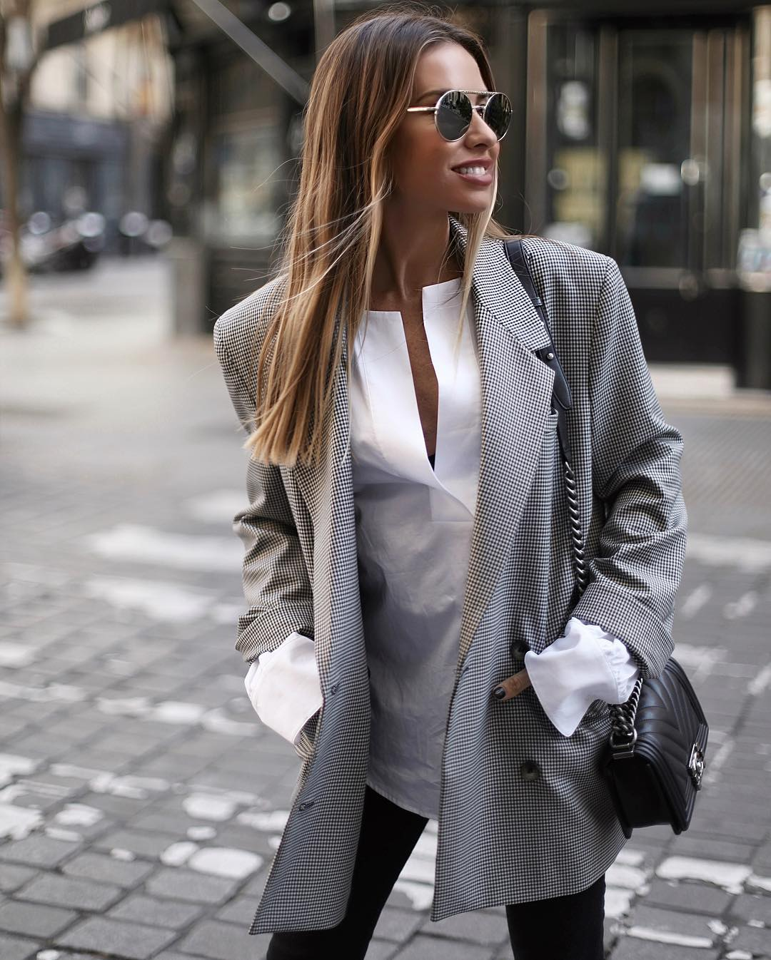 plaid jacket de Zara sur martacarriedo