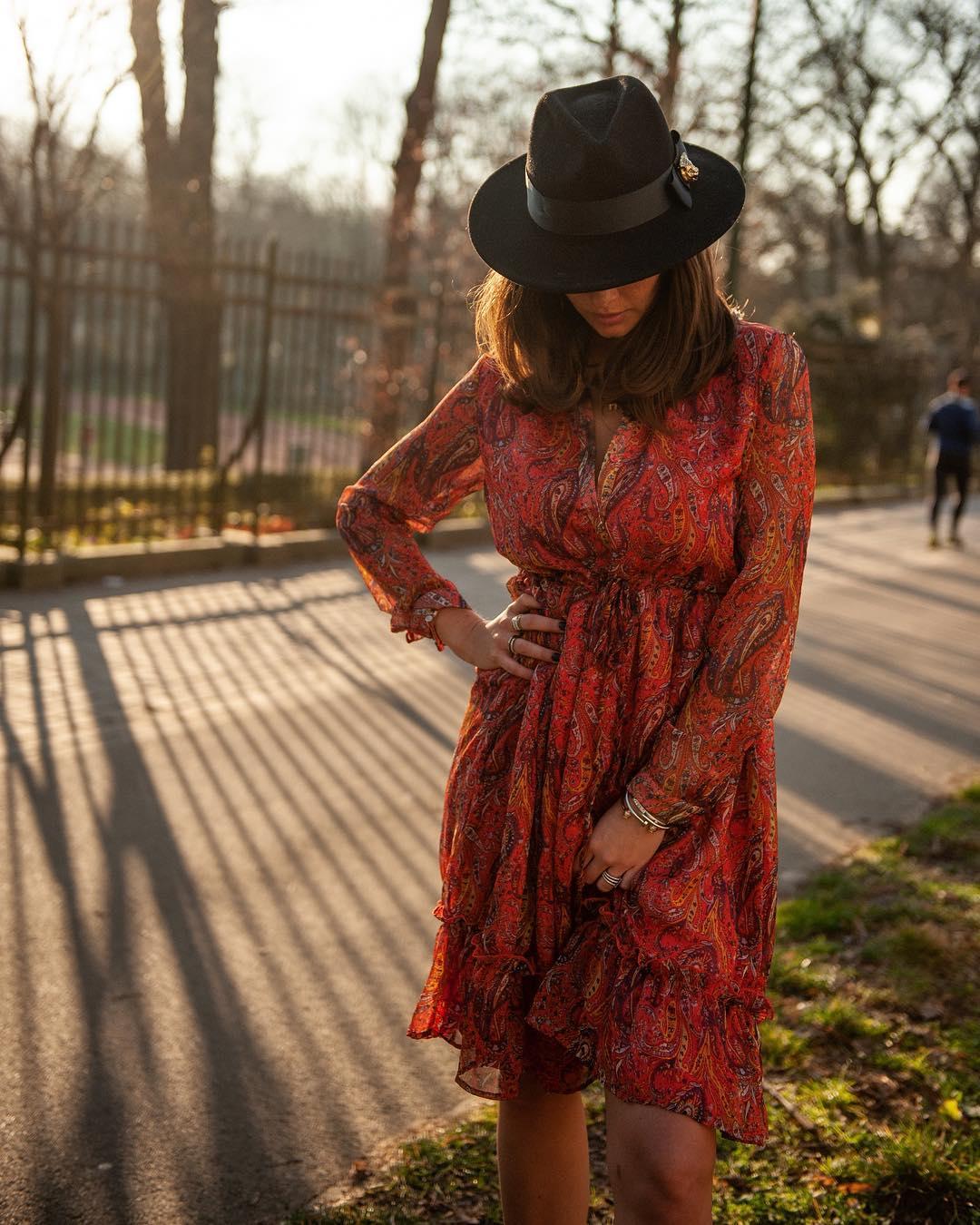 robe imprimé cachemire de Les Bourgeoises sur aureliexcasteels