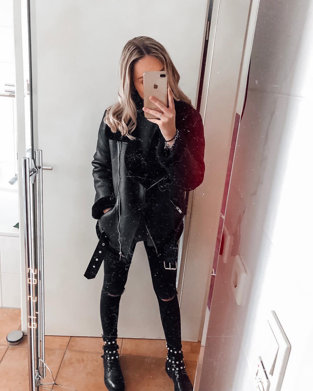 double-sided biker jacket de Zara sur julie_brunner