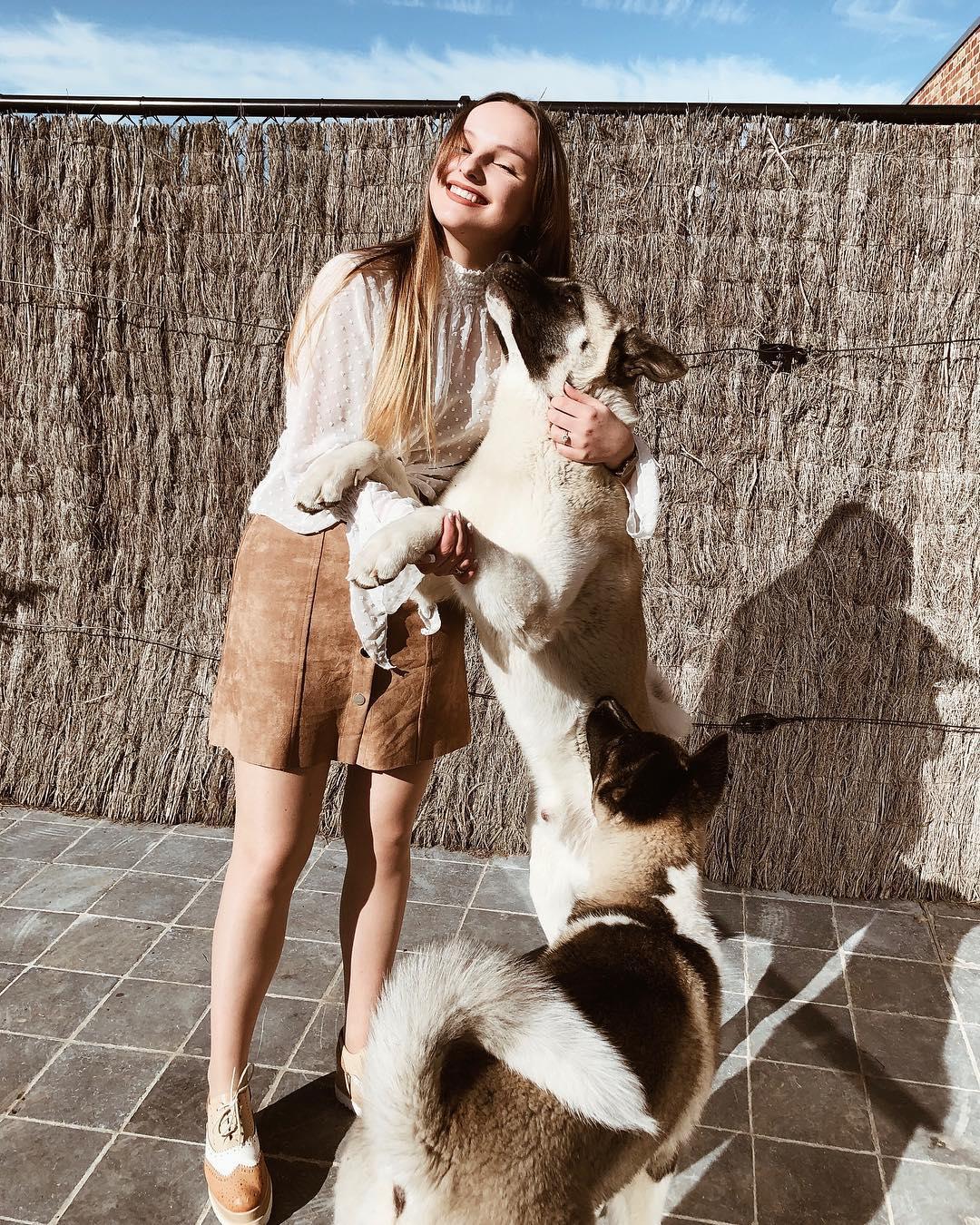 camel sued skirt de Les Bourgeoises sur elodyberteyn