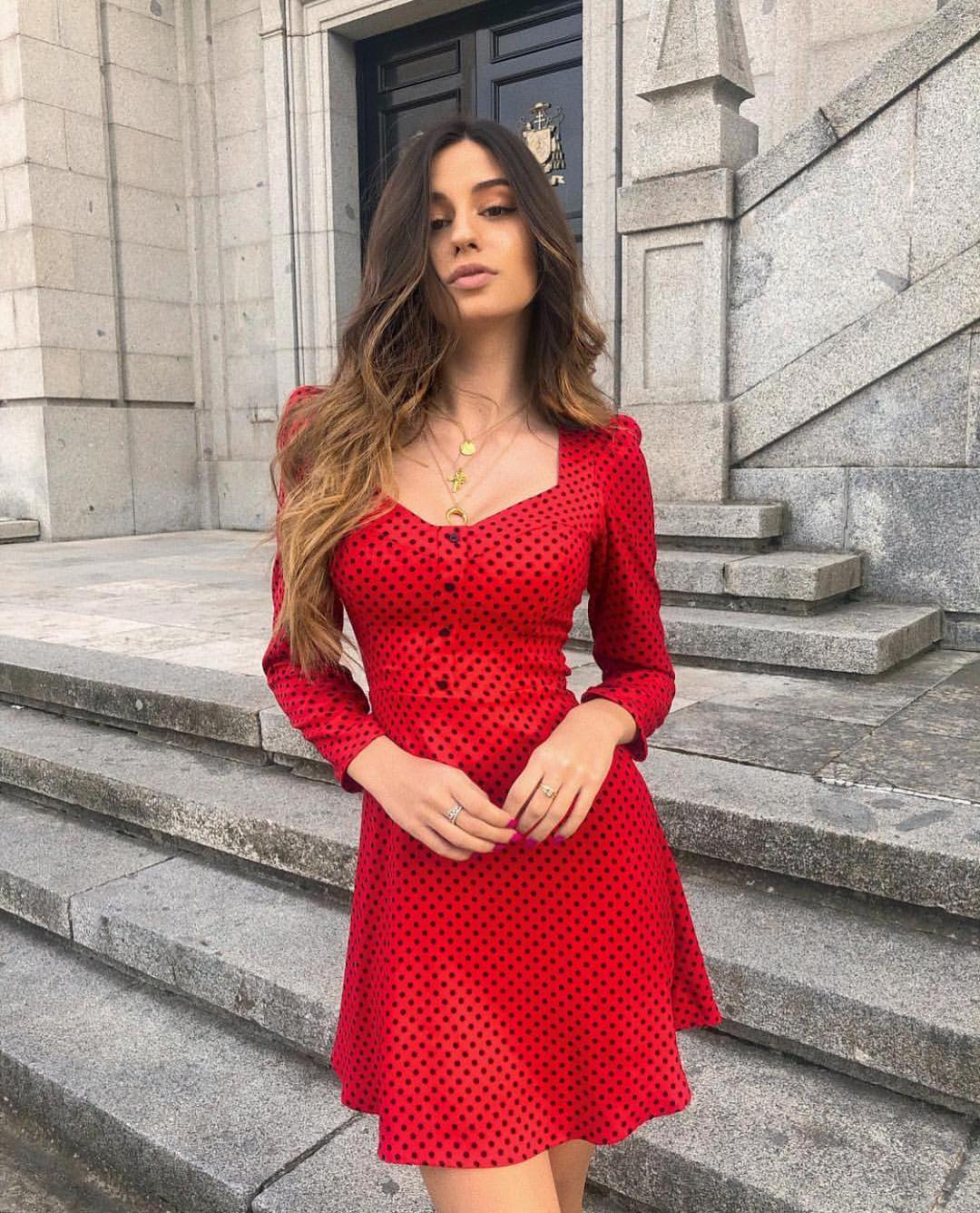 robe à pois de Zara sur zara.outfits