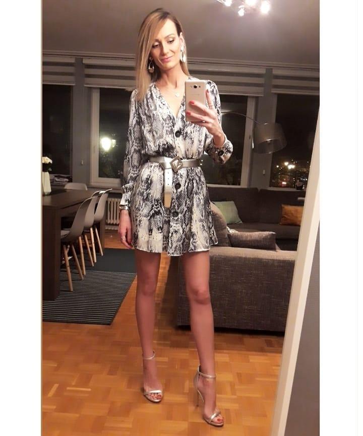 animal print dress de Zara sur eliizziimm