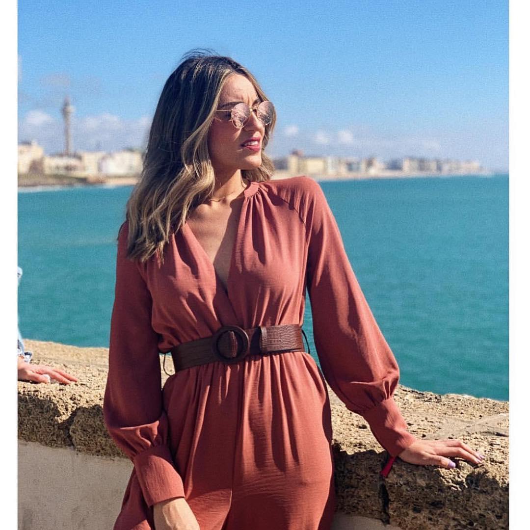 combinaison à ceinture de Zara sur zara.outfits