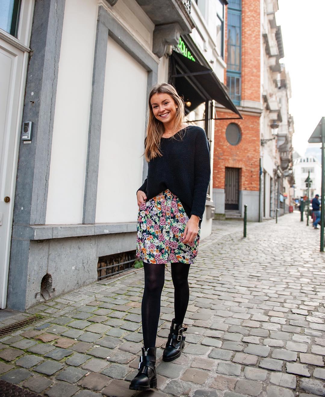 jupe multi impression florale de Les Bourgeoises sur lesbourgeoisesofficiel