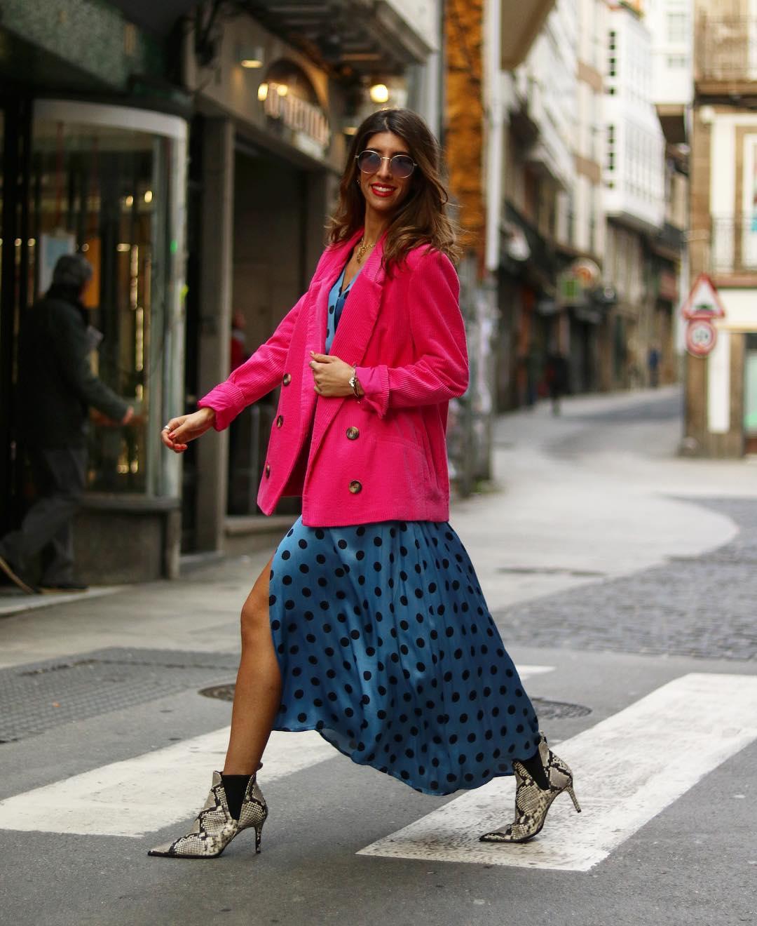 polka dot wrap dress de Zara sur maarttaan