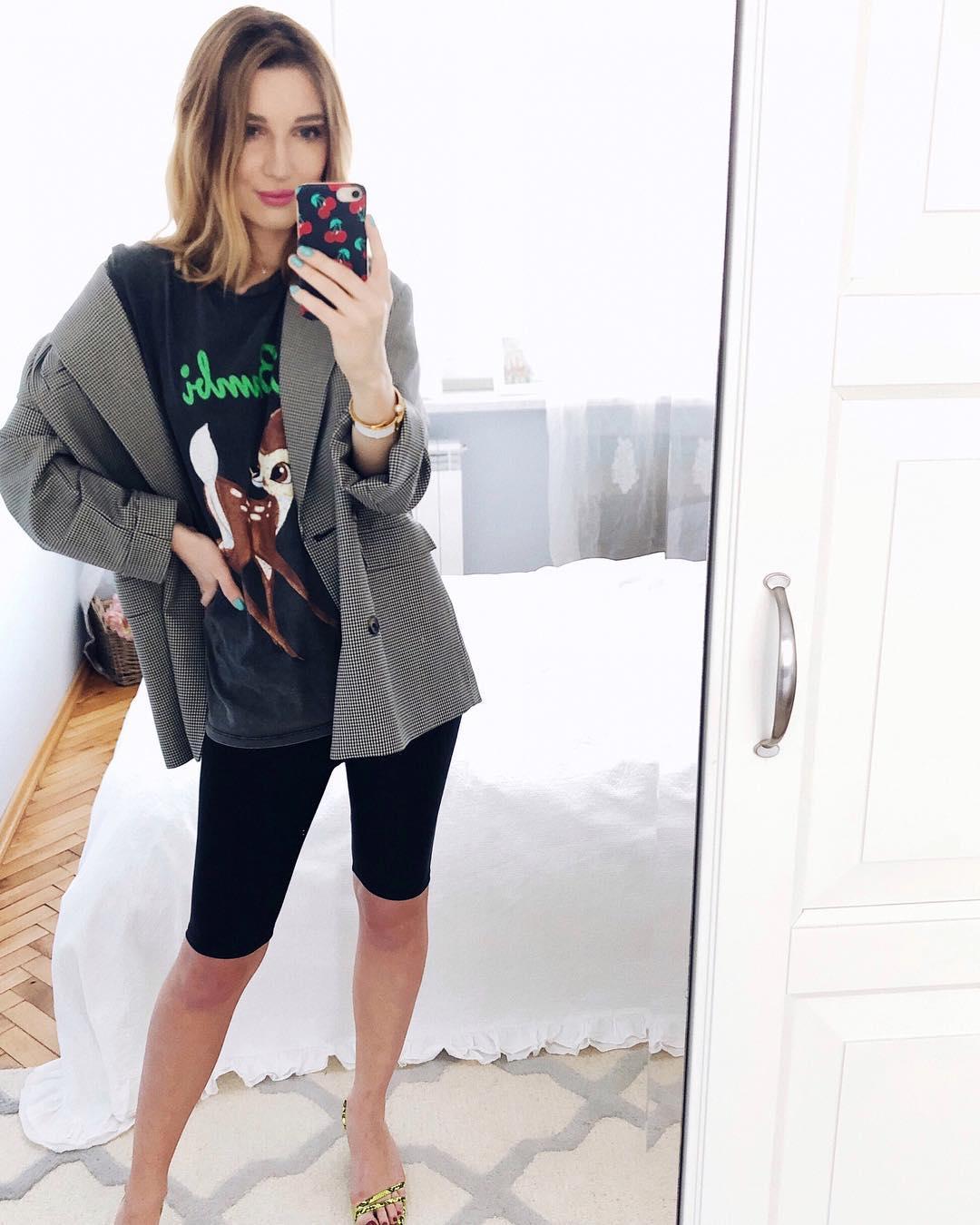 plaid jacket de Zara sur delfinashopping