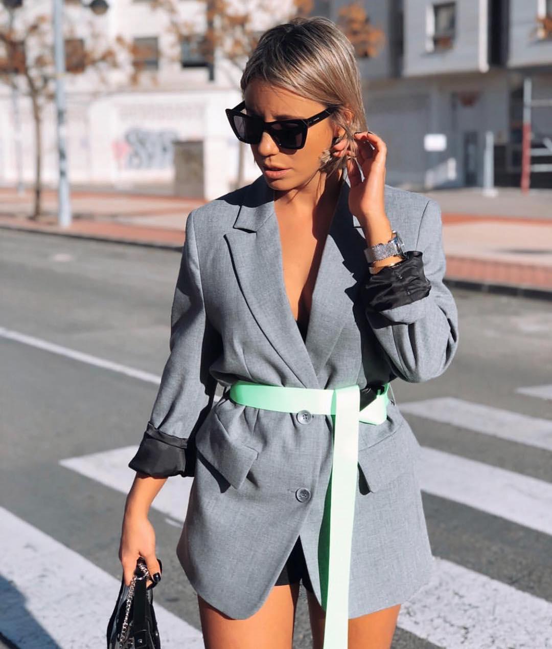 veste oversize avec ceinture de Zara sur zara.outfits