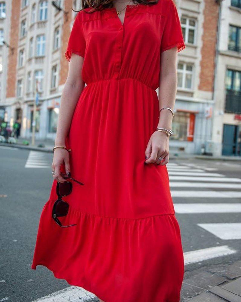 robe rouge 7/8 de Les Bourgeoises sur scanlesbourgeoises