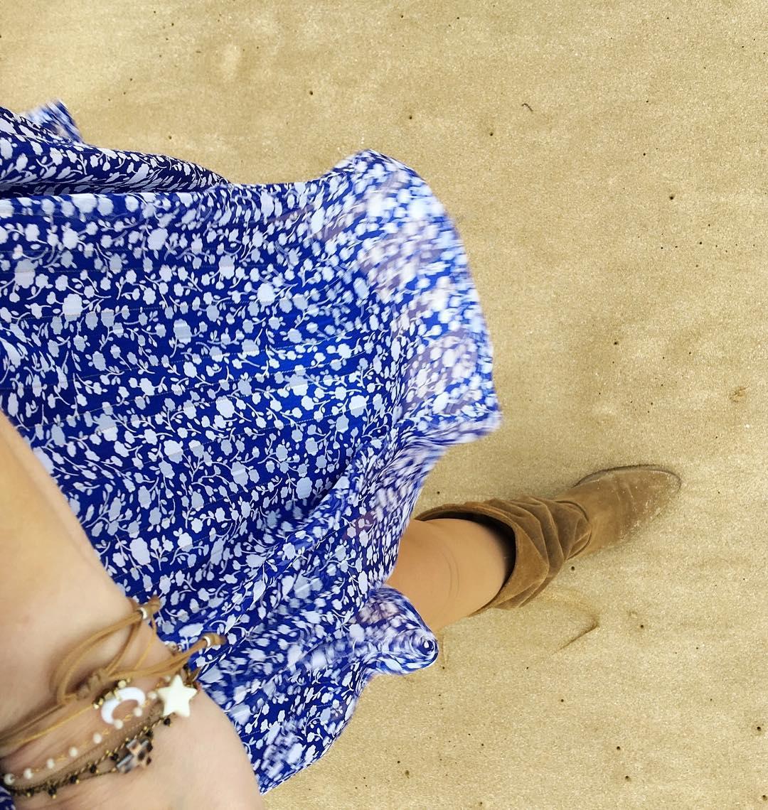longue robe bleue jenny de Les Bourgeoises sur poupeepoudree