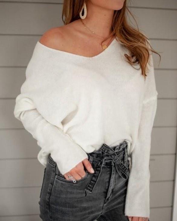 jeans gris taille haute de Les Bourgeoises sur scanlesbourgeoises