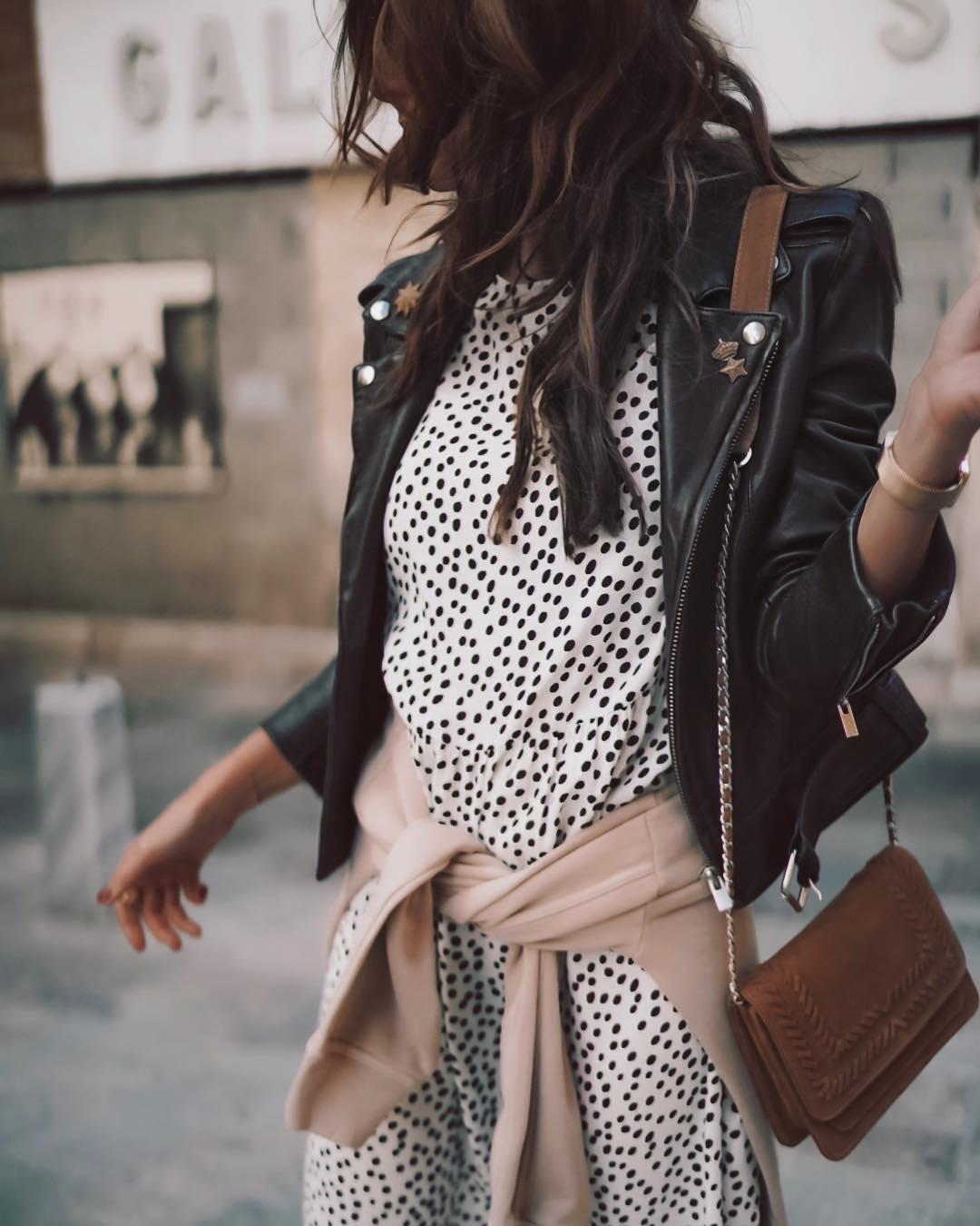 robe imprimée de Zara sur looknatamelie