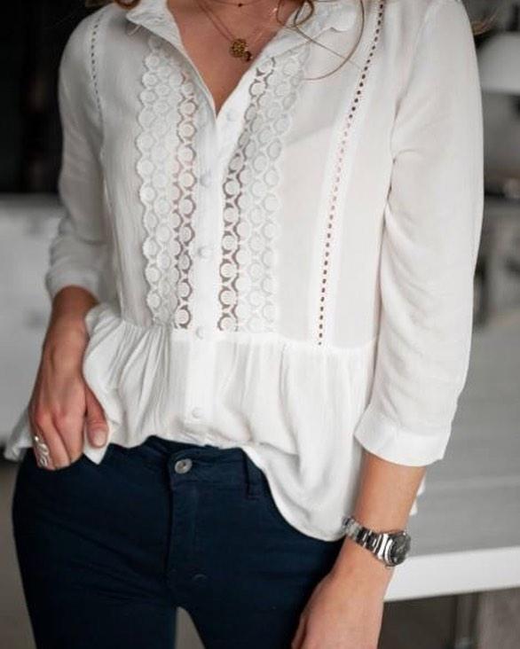 blouse écrue maria de Les Bourgeoises sur scanlesbourgeoises