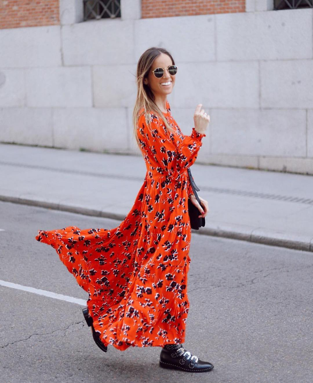 dress with floral print de Zara sur zaraaddiction