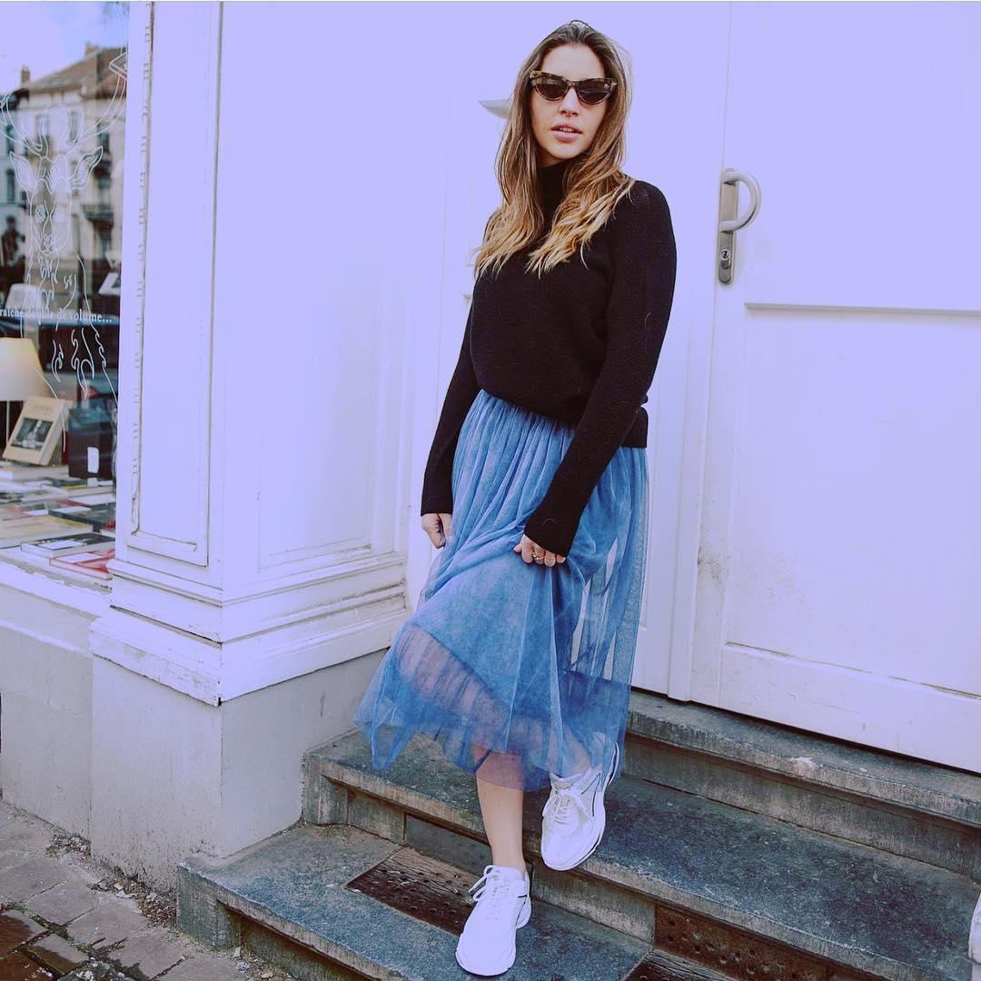 jupe en tulle bleue de Les Bourgeoises sur emymily_