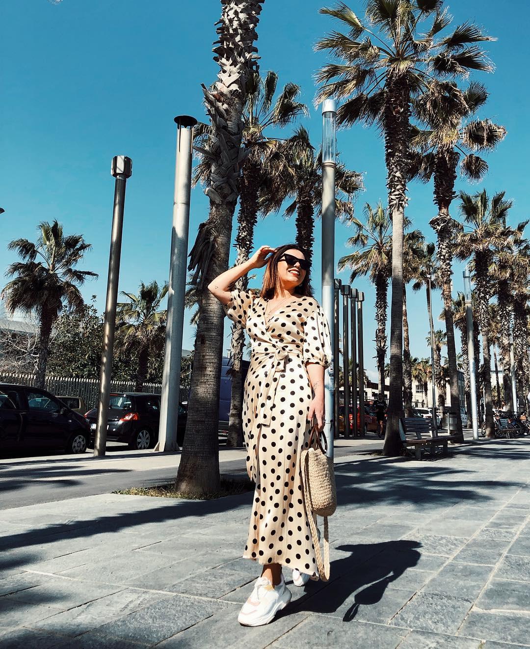 polka dot wrap dress de Zara sur susanabatalha03