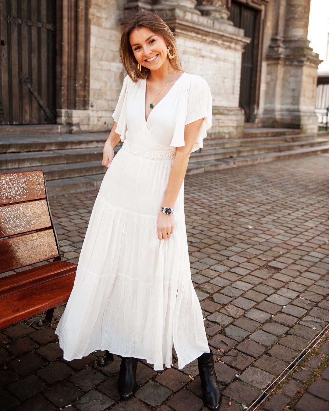 longue robe ecrue de Les Bourgeoises sur lesbourgeoisesofficiel