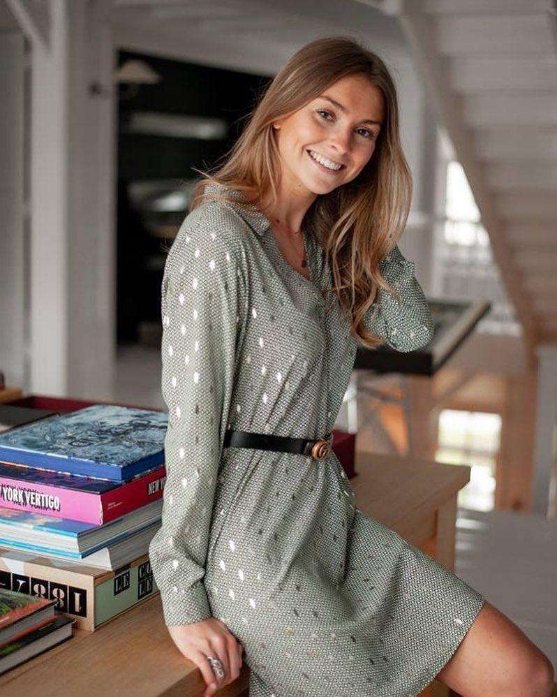 robe verte lurex de Les Bourgeoises sur scanlesbourgeoises