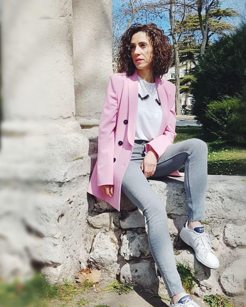 veste à boutonnage croisé de Zara sur edane33