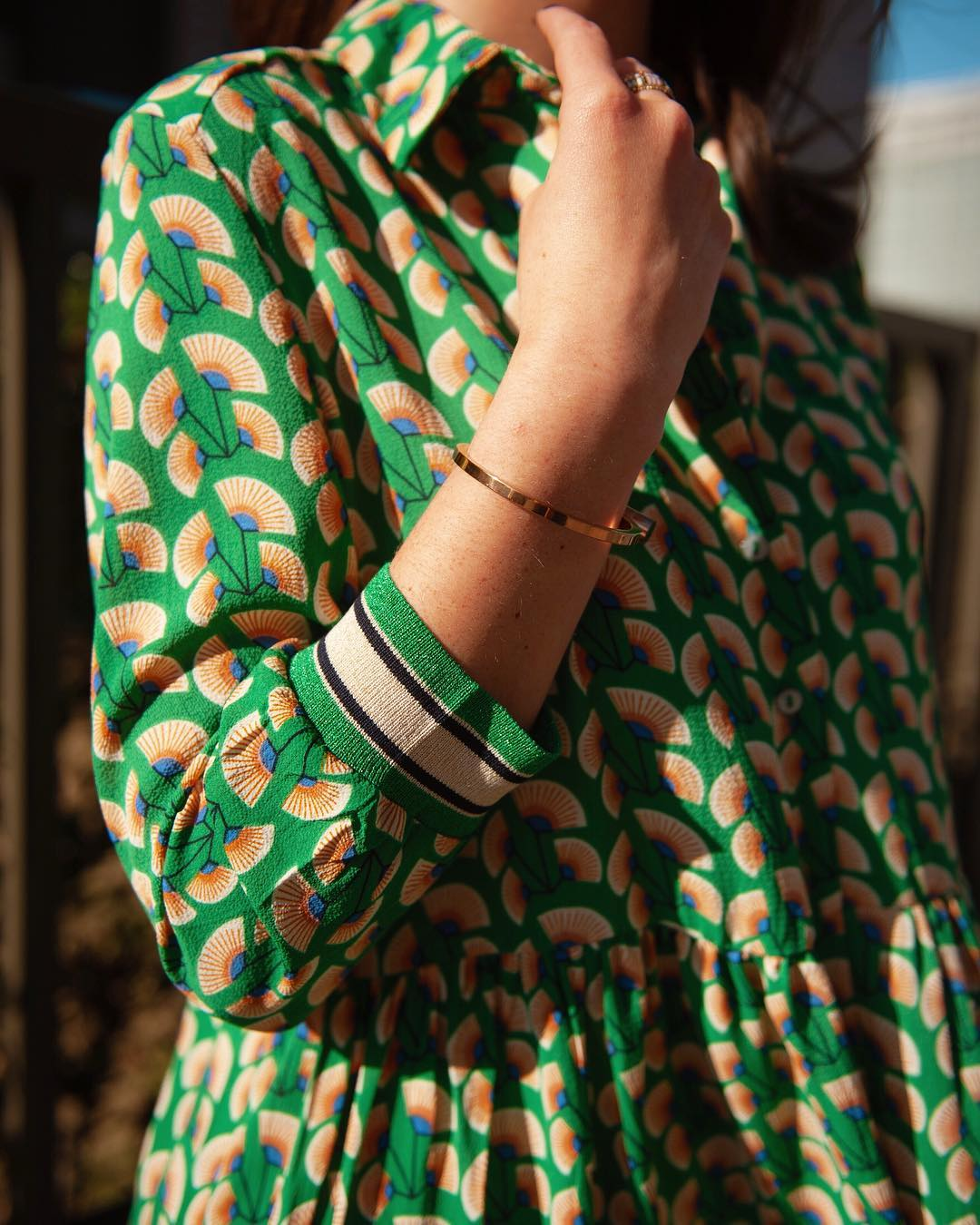 robe verte paon de Les Bourgeoises sur lesbourgeoisesofficiel
