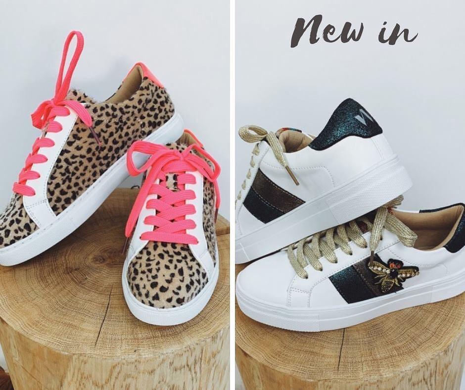 baskets leopard / fluo de Les Bourgeoises sur scanlesbourgeoises